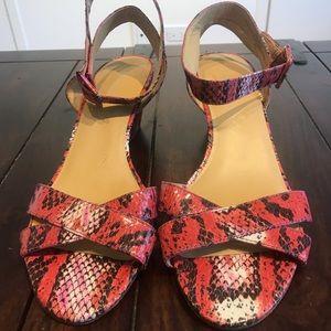 Nine West ankle strap animal print sandals